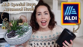 ALDI AUTUMNAL HAUL UK 2019 | Aldi Specialbuys Homeware Haul | September