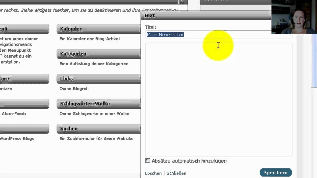 Wordpress Widgets erstellen und in die Sidebar einfügen ...