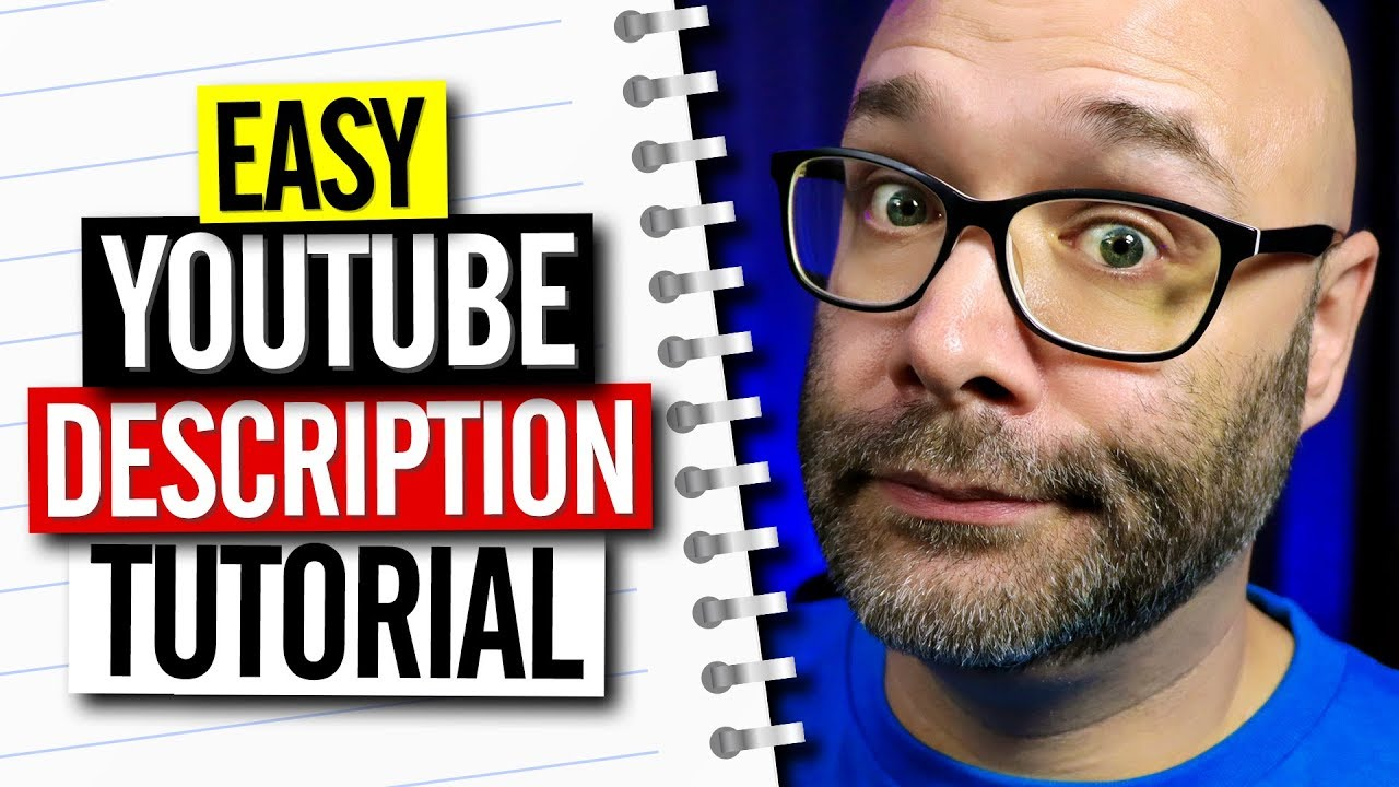 Youtube Description Tutorial And Template Youtube