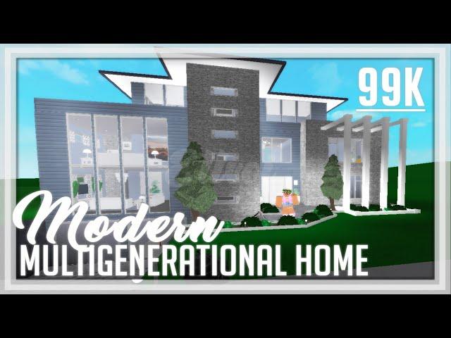 15 Modern Family Home Roblox Welcome To Bloxburg Speedbuild All