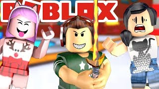 Roblox SWORD man WANTS to PICK US UP (ft. Jr and Mi) Epic minigames