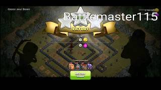 Clash of Clans NEW Goblin maps walk through Level 52 (No Heroes)