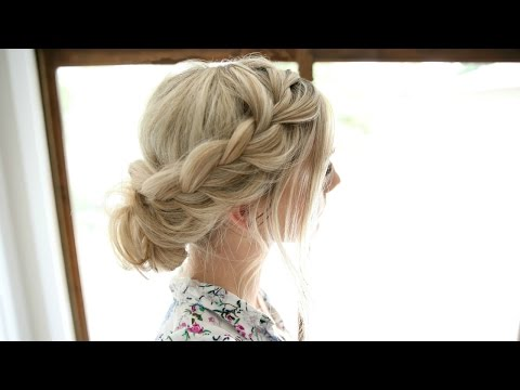 Soft Lace Braid Easy Romantic Updo