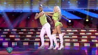 Cande Ruggeri deslumbró en la pista con una coreografía muy sexy
