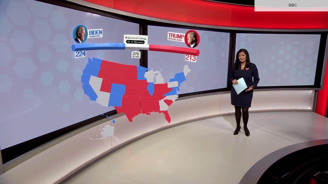 BBC News 2020 U.S. election augmented reality graphics