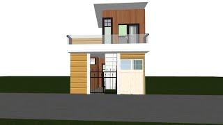 शेरमुखी घर को वास्तु के अनुसार कैसे बनाये || 12-17 by 42 house design || 65 gaj home plan ||