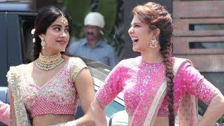 Jacqueline Fernandz And Jhanvi Kapoor At Sonam Kapoor Wedding