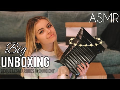 BIG UNBOXING - What the brands send me (ASMR)