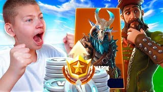 SURPRISING JAYDEN WITH 20,000 V BUCKS AND THE BATTLE PASS!! *INSANE REACTION* FORTNITE BATTLE ROYALE