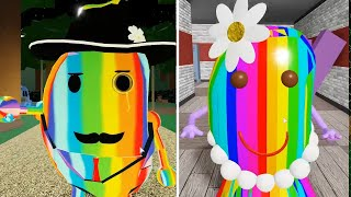 ROBLOX PIGGY 2 RAINBOW MR P VS RAINBOW MS P