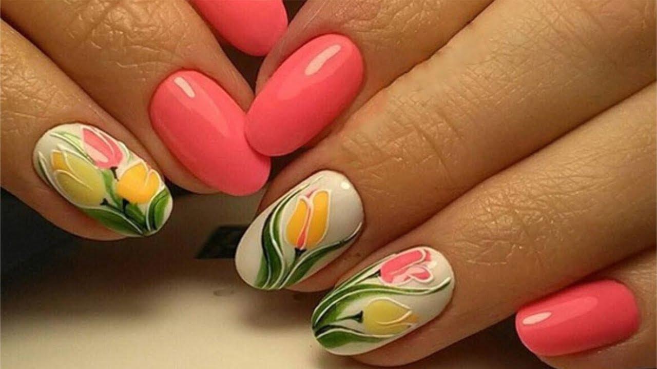 дизайн ногтей с тюльпанами фото важно всё оформить