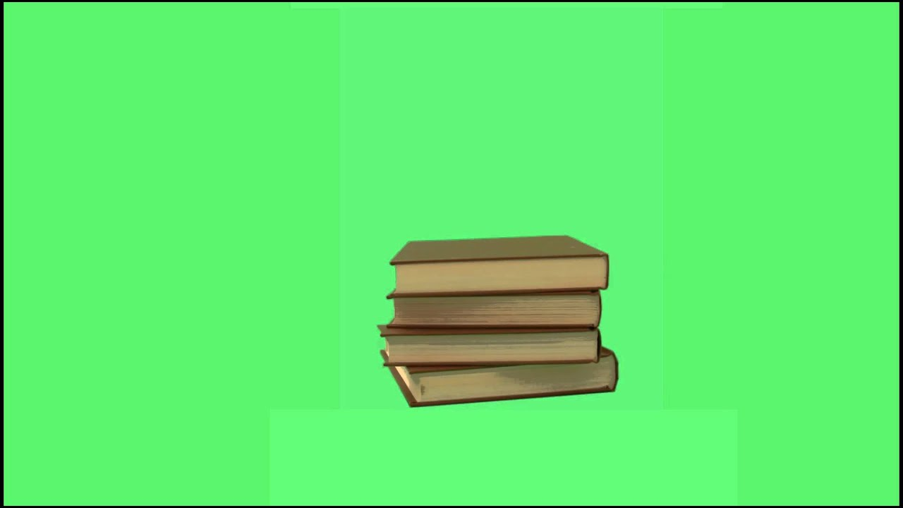 Free Animated Book Stack Green Screen Masters Youtube