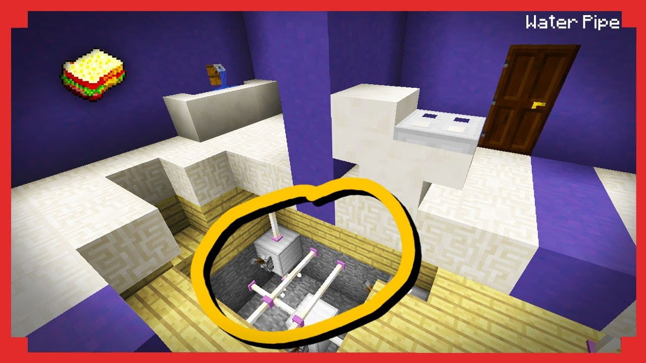 How to make a pipe (in minecraft) 51