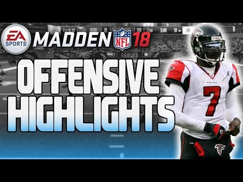 MADDEN 18 IS HERE!!! ANNUAL MADDEN OFFENSIVE HIGHLIGHTS | DOTS, HURDLES & PLAYMAKERS