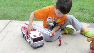 Fast Lane Action Wheels Fire Truck Review  / Toy Review