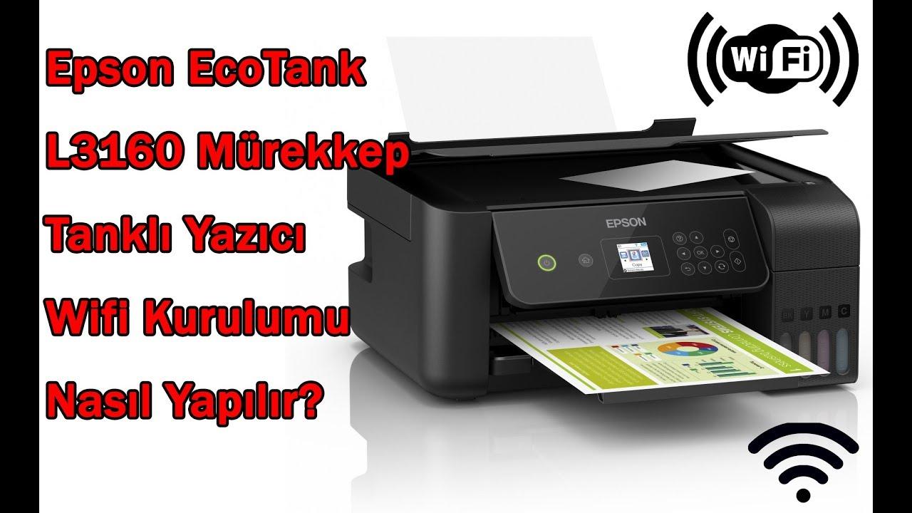 Epson EcoTank L3160 Yazıcı Wifi Kurulumu Nasıl Yapılır?
