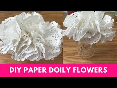 DIY Paper Doily Flowers Tutorial