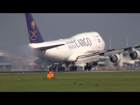 Saudi Cargo ► Boeing 747-400 ► Landing ✈ Amsterdam Airport Schiphol