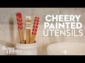 Cheery Painted Utensils