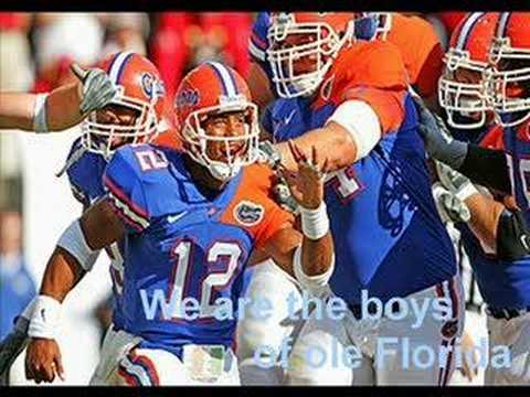 Gator fight song & We are the Boys from old Florida