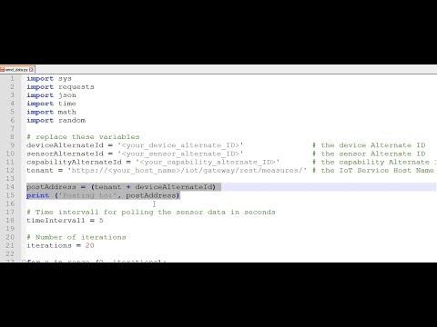 SAP HANA Academy - SAP Leonardo IoT: Python & REST 2of3 : Random Data