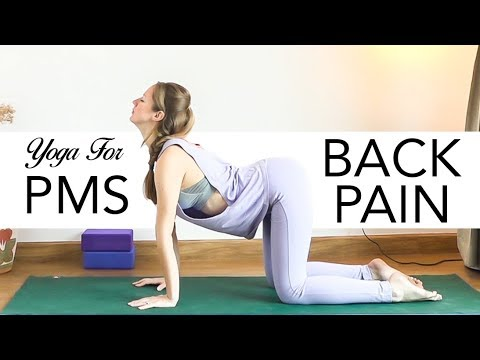 gentle yoga for back pain  pms ♥ vinyasa flow ♥yogacandi