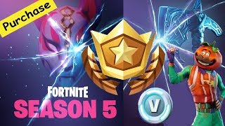 Season 5 is Here !!!!! Purchasing Season 5 Battle Pass |Fortnite : Battle Royale