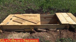 бюджетная компостная яма своими руками с крышкой за один день.Компостный ящик из досок своими руками
