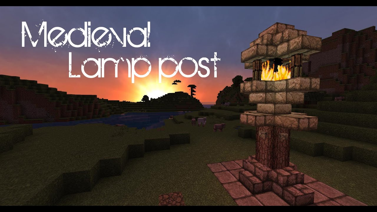 Minecraft Medieval Lamp Post Tutorial YouTube