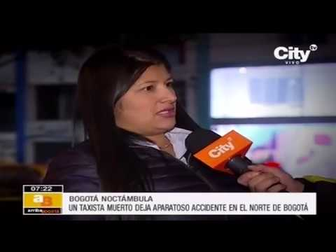 Taxista muerto tras accidente al norte de Bogotá | Citytv