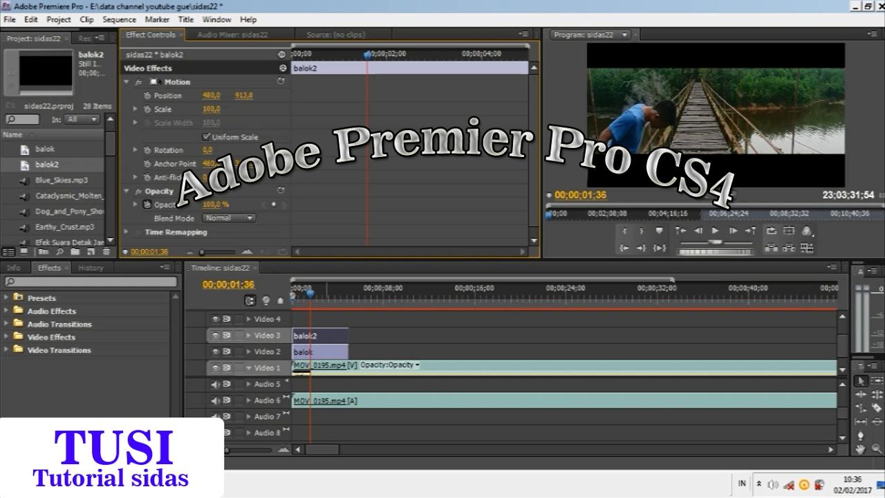 cara crop video di Software Editing  adobe premiere pro cs4