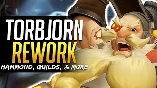 Overwatch TORBJORN REWORK UPDATE - Ana Buffs,Guilds & more