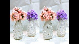 Garrafas decoradas com strass – para decoração da casa ou uma bela Lembrancinha