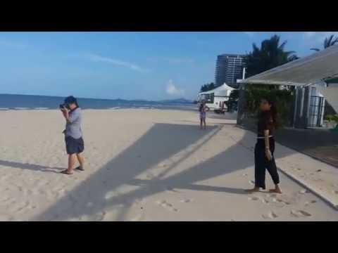 หายทรายขาวๆของโรงแรมไมด้า เดอ ซี หัวหิน (ที่พักหาดชะอำใต้)