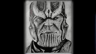 Drawing thanos| How to draw thanos!!😁😁