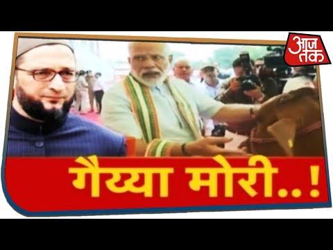 चुनाव आया, गाय पर सियासत लाया! Halla Bol Anjana Om Kashyap के साथ