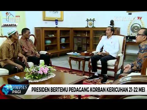 Jokowi Bantu Pedagang yang Dijarah Saat Aksi 22 Mei