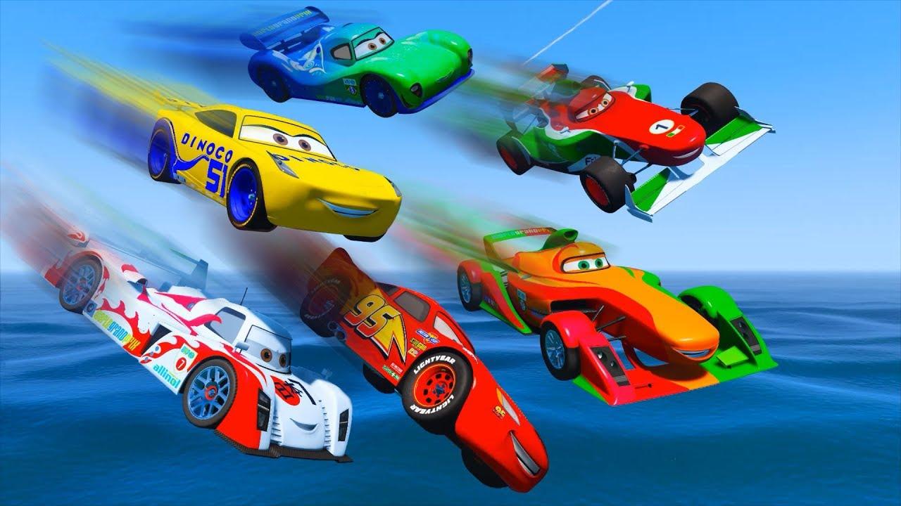Cars  Francesco Bernoulli Vs Lightning Mcqueen