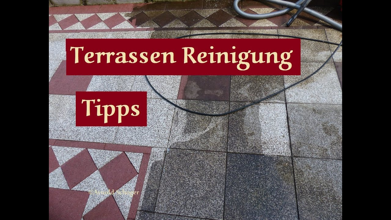 Terrassenplatten Reinigen Hochdruckreiniger Clean The Terrace It Will Look Like New Again