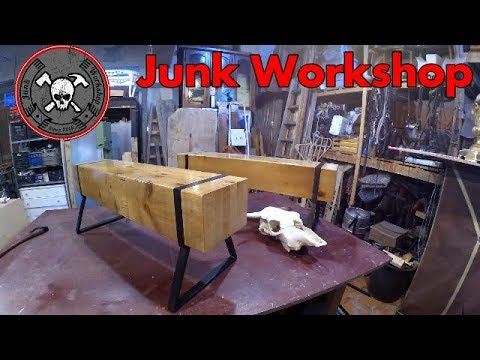 Diy wood and steel Industrial Style Bench - Panche fai da te in stile industriale in legno e ferro