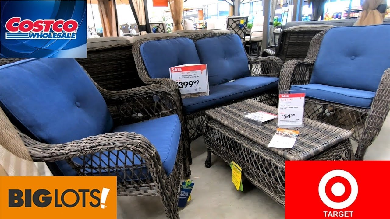 Costco Big Lots Target Patio Furniture Sofas Chairs Home Shop With Me Shopping Store Walk Through Youtube
