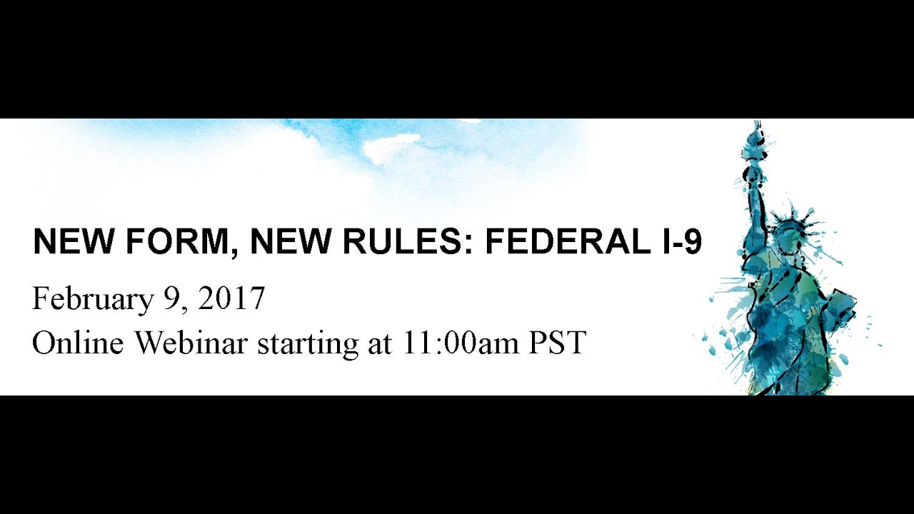 New Form, New Rules: Federal I 9 - YouTube