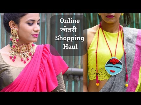 online-jewellery-shopping-haul-2019-|-silver-handmade-jewellery-|-kundan-jewelry-designs-aanchal