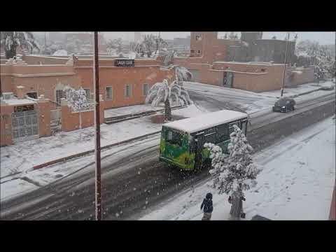 Ouarzazate sous la neige