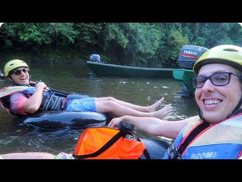 Floating down a Rainforest River in Brunei!