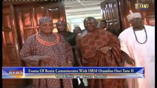 Esama Of Benin Commiserate With HRM Otumfuo Osei Tutu II On Demise Of Queen Mother