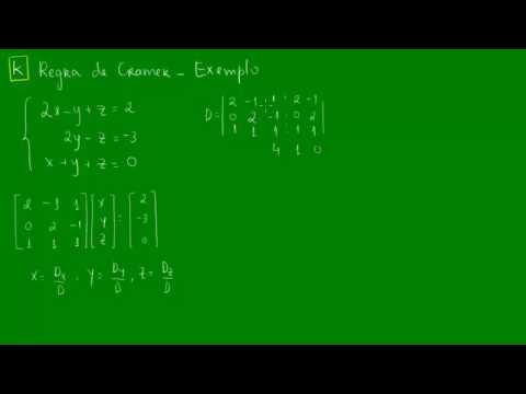 Regra de Cramer - Exemplo