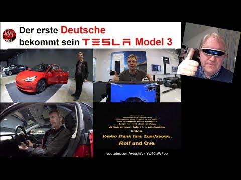 Der erste Deutsche bekommt sein Model 3 (NEWS KW06/2018)   Starman fliegt zum Mars