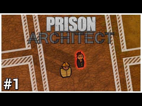 Prison Architect - #1 - Warden Mode Mutators - Let's Play / Gameplay / Construction