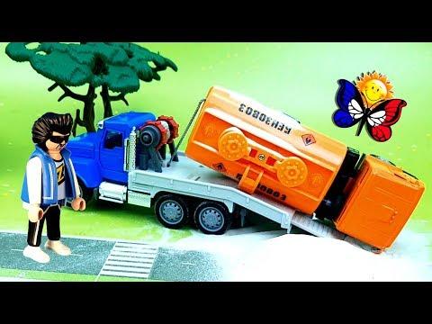 Istrie à propos du pétrolier accidenté sur la route. Éteins le feu! Dessin en français